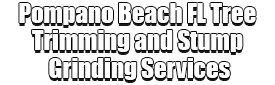 Pompano Beach FL Tree Trimming and Stump Grinding Services
